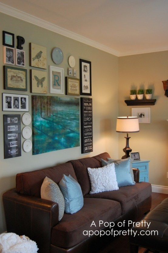 Living Room Gallery Wall Makeover A Pop Of Pretty Blog