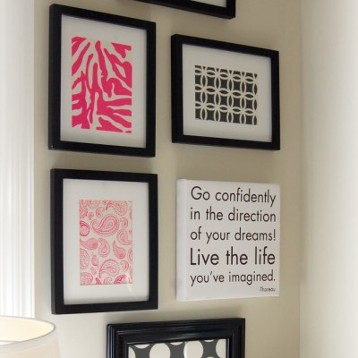 Create a chic art collection…with paper!