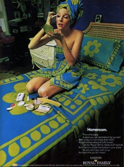 1960s Ad for Mod Sheets & Towels: Vintage Home Decor Ad (11 of 31)