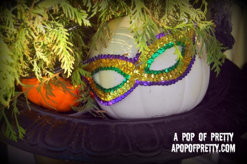 Halloween Decorating Masked Pumpkin
