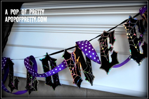 Halloween garland for Mantel