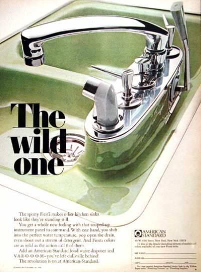 vintage decor - colored sinks