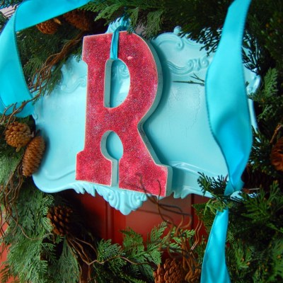 Front Door Decor: My 2011 Christmas wreath & using what you have!