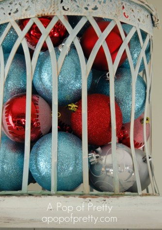 Red & Turquoise Christmas Vignette
