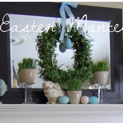 My Easter Mantel + BH&G Real Home Spring & Easter Mantel Decorating Ideas.
