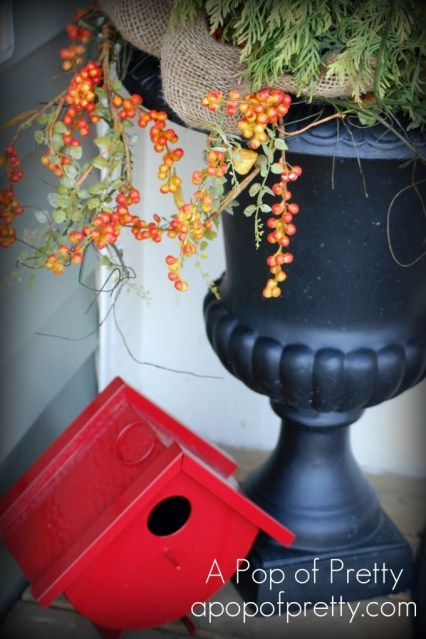 fall decorating - front porch
