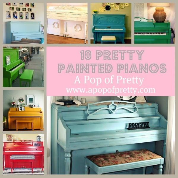 10 Pretty Painted Pianos! (Piano painting) - A Pop of Pretty Blog ...