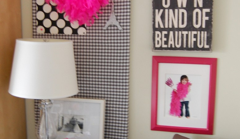 My Pink & Black Craft Room-Office: Room Tour Update!