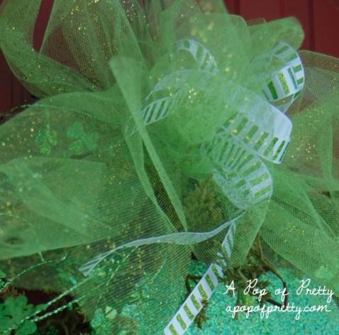 diy wreath - st patricks day