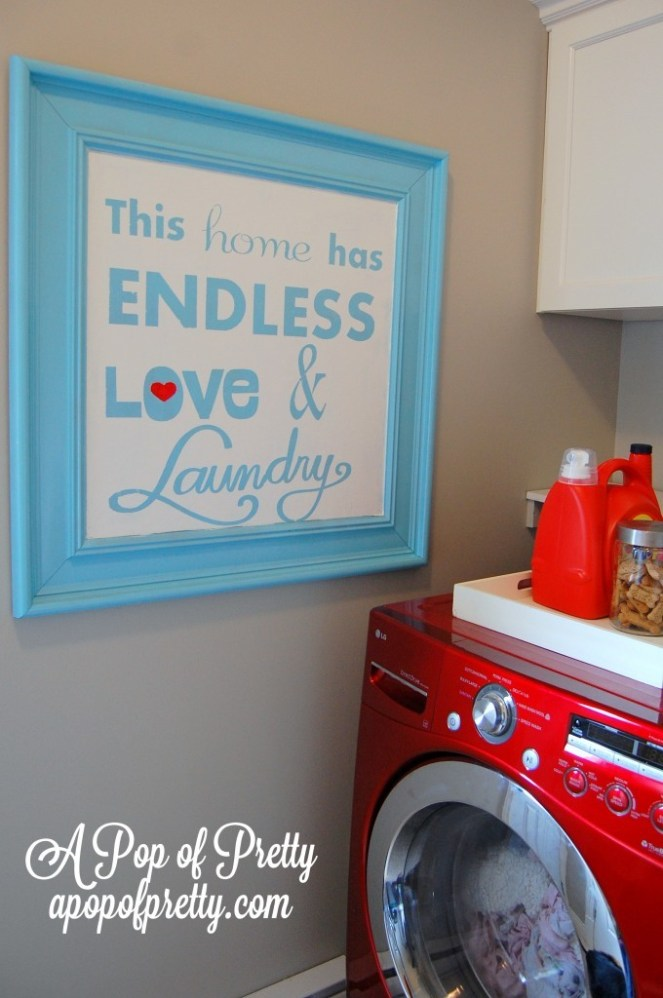 Endless Love & Laundry: Laundry Room Art Printable & Tutorial