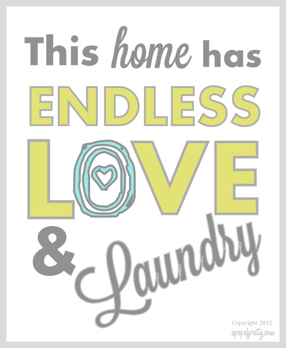 Free Printable Laundry Room