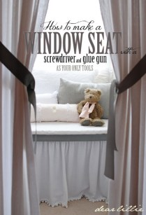 how to make a pretty window seat