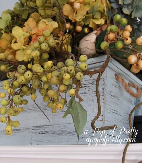 Decorating with Fall hyrangeas