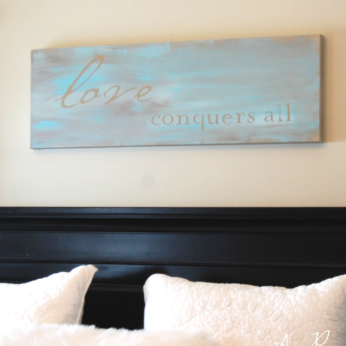 Inspirational DIY Wall Art Tutorial Easy Inspirational Quote Painted Canvas