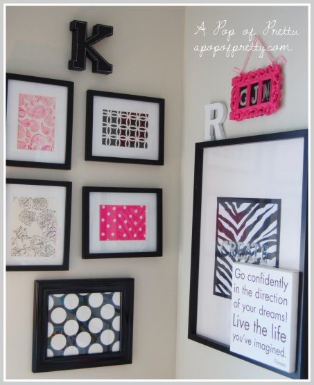 wall art from scrap paper and stationary