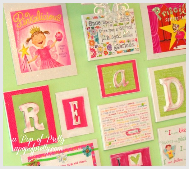 Simple mod podge wall art gallery
