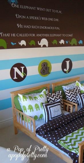 twin boy toddler room decor