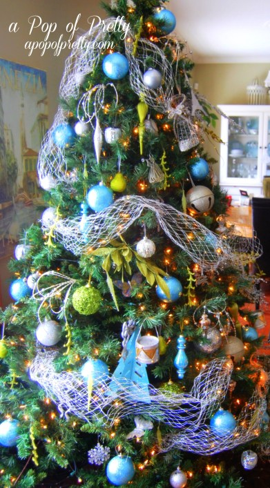 Turquoise Christmas Tree Decorations