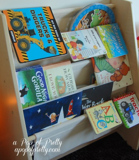 toddler boy room bookshelf idea