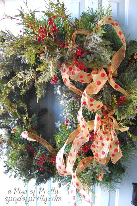 Christmas wreath decor