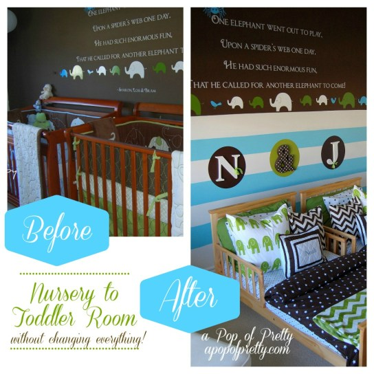Nursery to Toddler Room Decor
