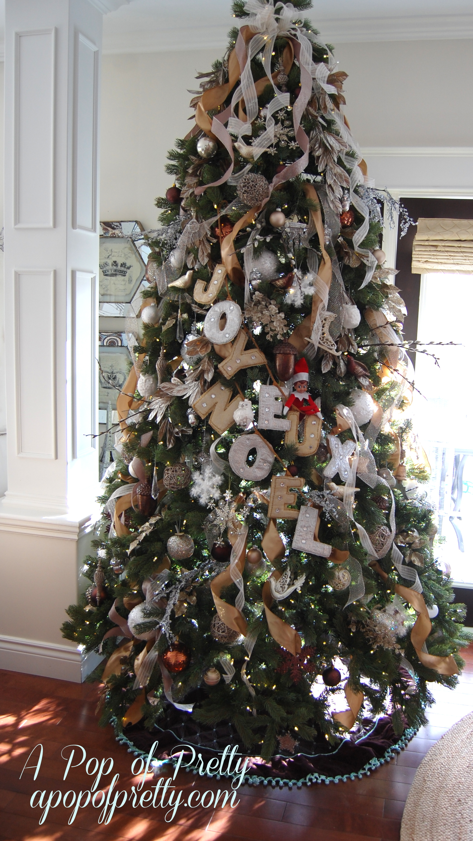 How To Put Ribbon On Christmas Tree.How To Add Ribbon Christmas Tree A Pop Of Pretty Home