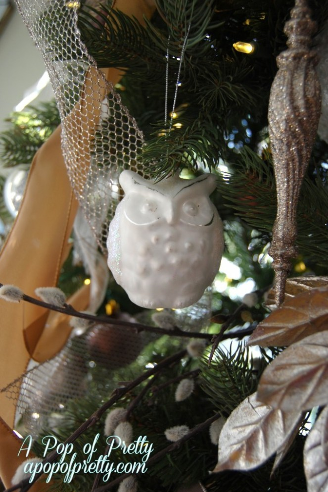 owl christmas decorations - Christmas Tree Decorated With Owls