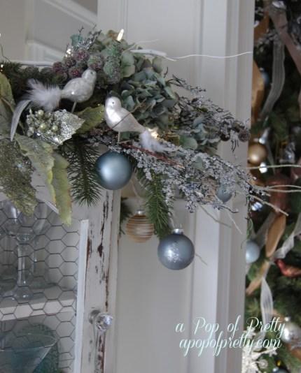 Christmas decorating living room