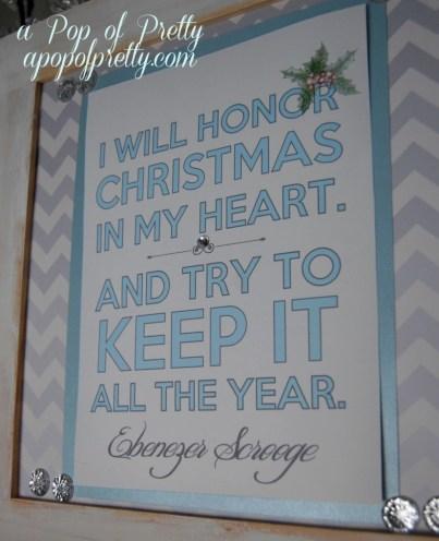 Free Christmas Printable - Scrooge