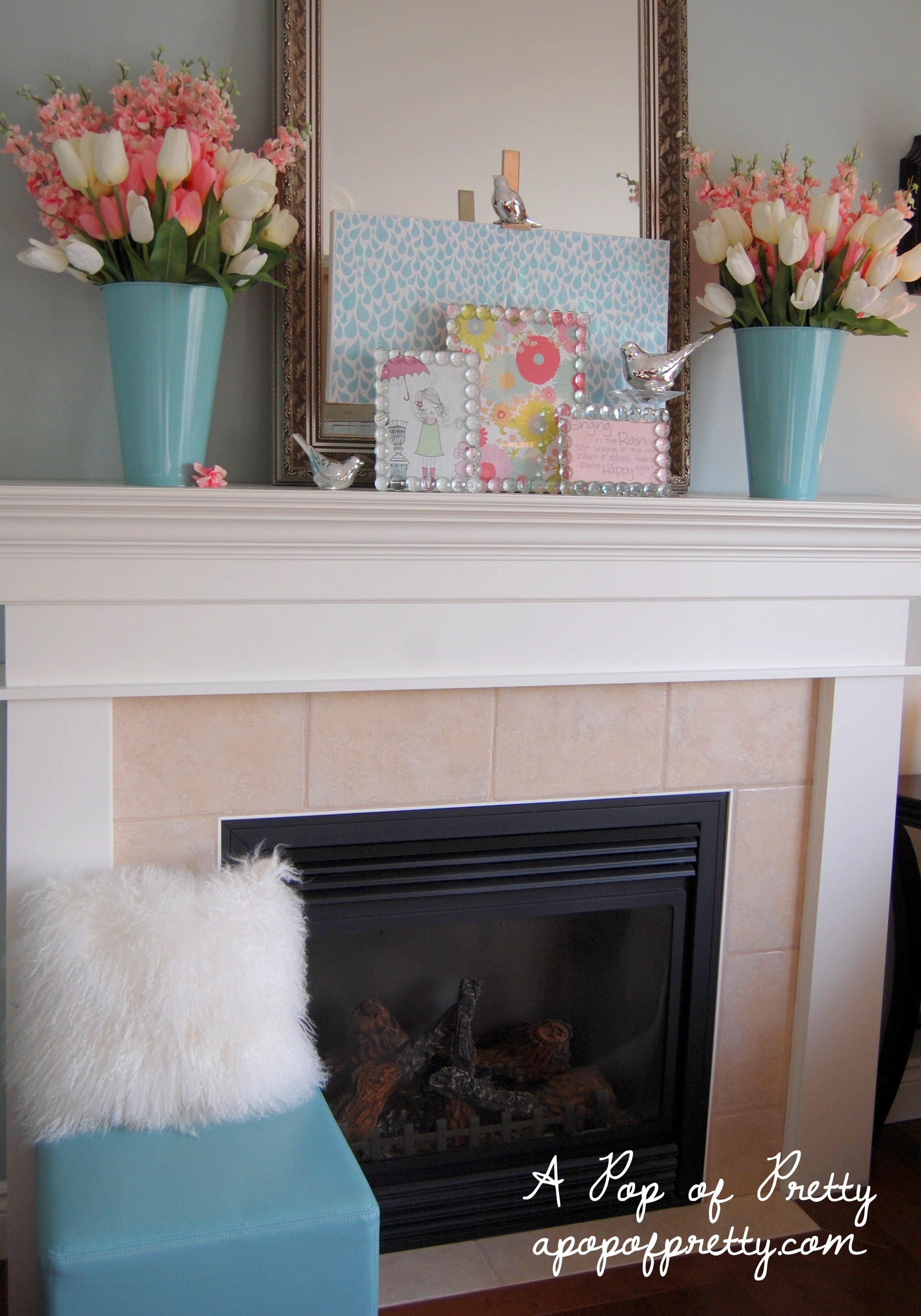 Spring Mantel Ideas - A Pop of Pretty Blog (Canadian Home Decorating ...