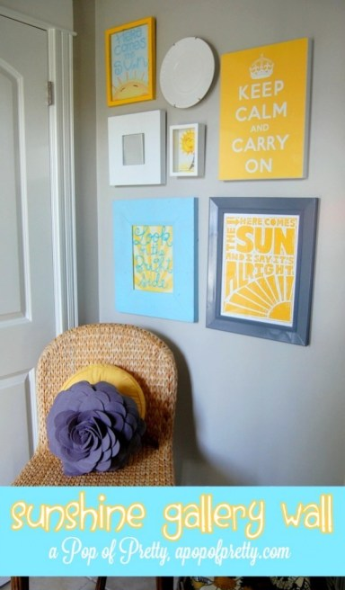 Sunshine Gallery Wall