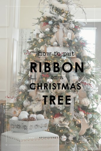 How to put ribbon on a Christmas tree - easy tutorial with excellent results.