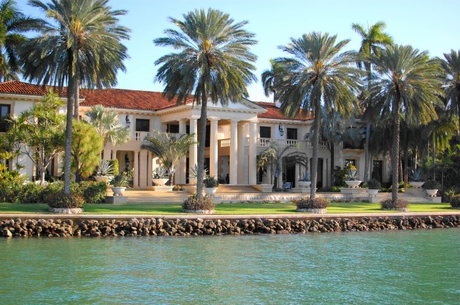 Miami style mansions