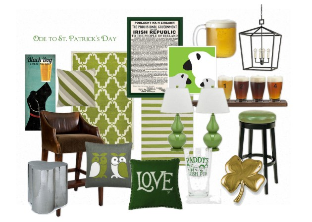 home decor inspired by St Patricks Day