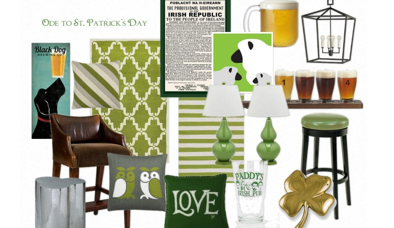 Home Decor Fun: Ode to St Patricks Day (Inspiration Board)