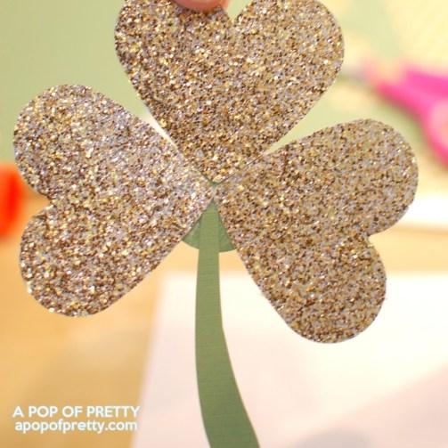 gold shamrock for St Patricks Day