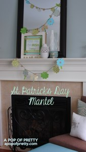 St Patricks Day Mantel