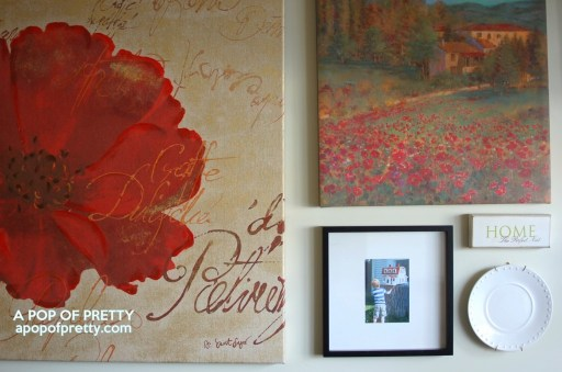 Gallery wall with photos