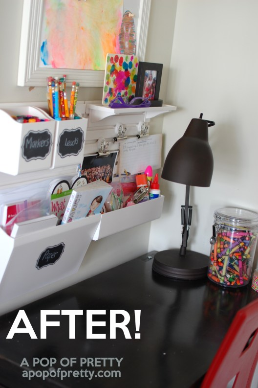 how to organize - kids art station