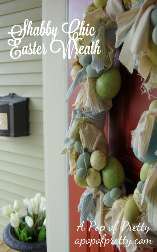 how to make an Easter wreath - shabby chic