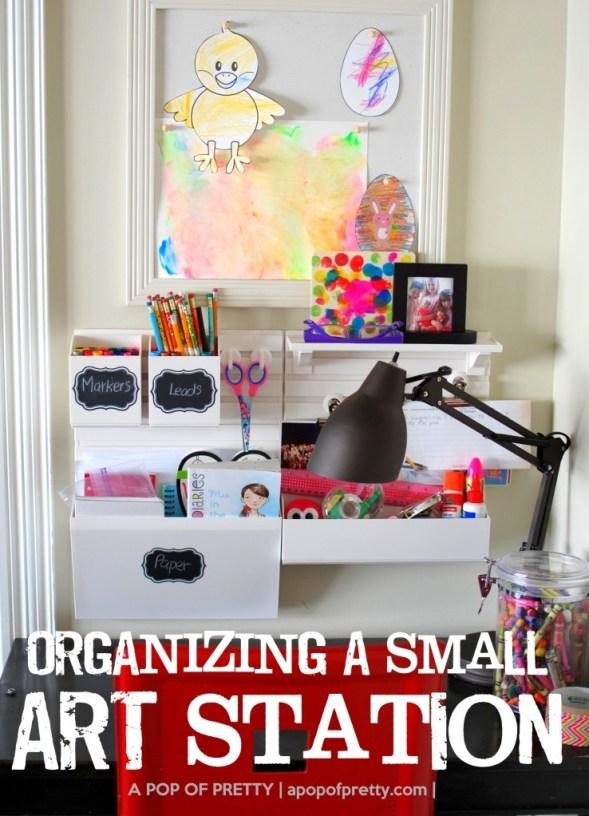 How to organize art station - Martha Stewart