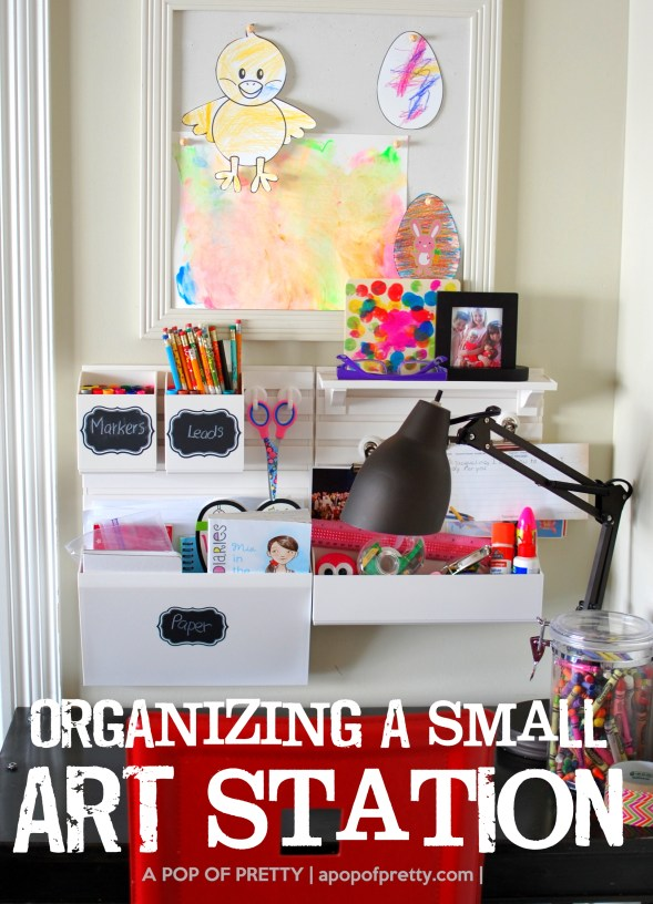 How to organize art station - Martha Stewart