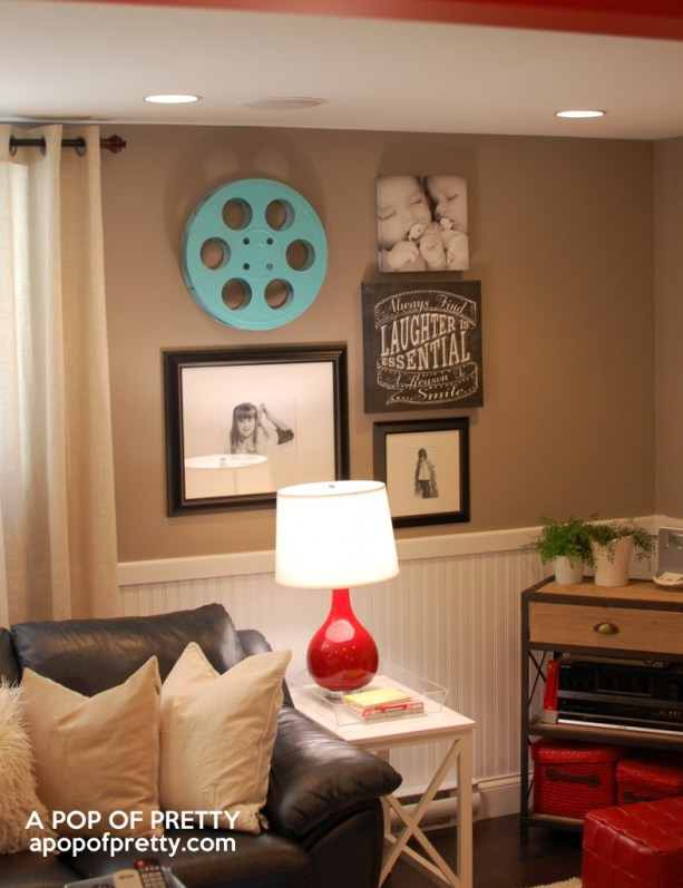 basement decorating ideas - gallery wall