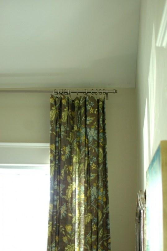 hang drapes high