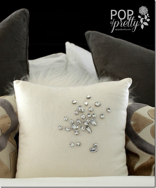 glam bedroom pillow