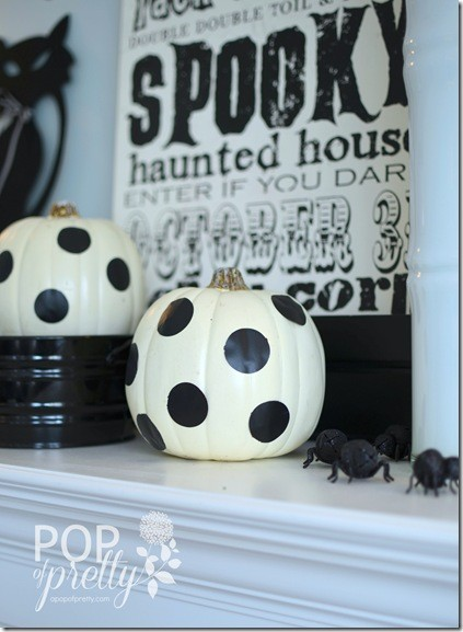 Halloween Decorating - polka dots