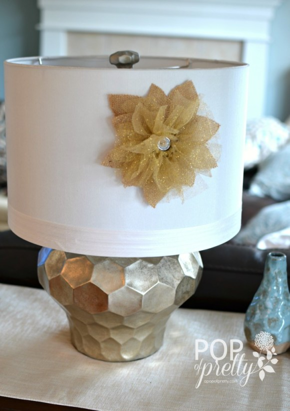diy lampshade flower