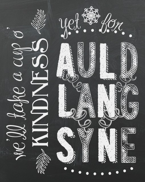 New Years Printable - Auld Lang Syne