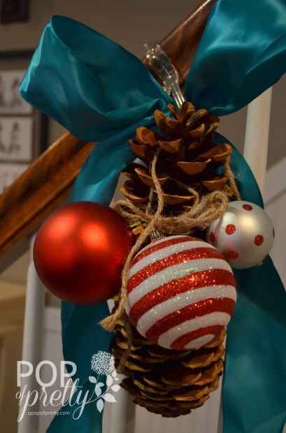 Dr. Seuss Inspired Christmas - stair railing idea