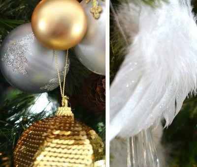 Our Gold and White Christmas Tree {Christmas Tree Decorating Ideas}